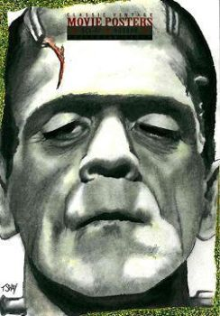 Frankenstein Sketch Card by Dr-Horrible