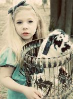 Alice and her rabbit by MollyJoy
