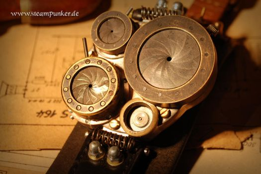 Steampunk large wrist watch by steamworker