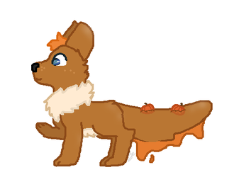 Pumpkin Jello Dog Adopt [CLOSED] 1pt auction by RoyalSwirls