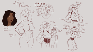 Tales from Formosa: Naomi Doodles by hammertheshark