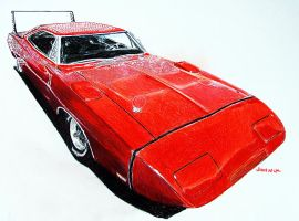 Dodge Charger Daytona by johnwickart