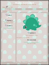 Dinosaur CSS Journal Layout by Kezzi-Rose
