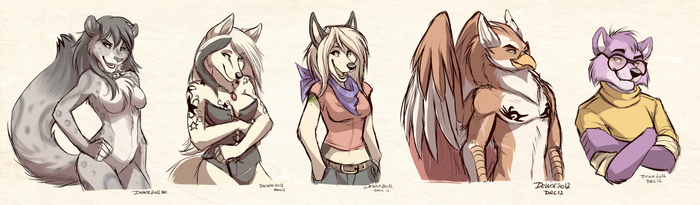 Sketch Commission: Batch 5 by Synthucard