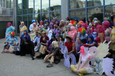 Fanime 2012- My Little Pony FIM Gathering by ChikaraTheWolf