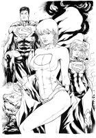 Power girl Superman and Supergirl by Leomatos2014