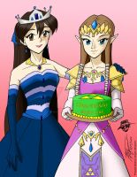 Arturetta and Zelda by ArthurT2015