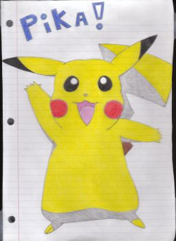 Pikachu's Hello_scanned by coolsolid