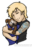 Mike and Pup by kelly42fox