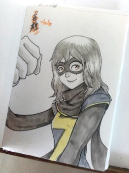 Ms. Marvel by pawmarks