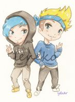 Ardy and Taddl by Viodino