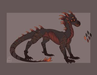 Volcanic Wyrm (Open!) (Price Drop!) by KotaCoyote