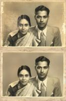 Wedding Portrait 1946-Restored by salias