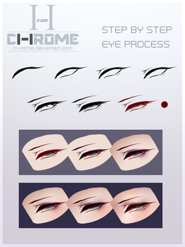 Step by Step Eyes by CI-IROME