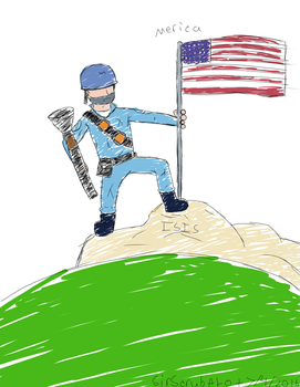 Rough Sketch-Soldier's Independence Day by SirScrubAlot