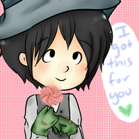 I got you a flowerr by duckychan97