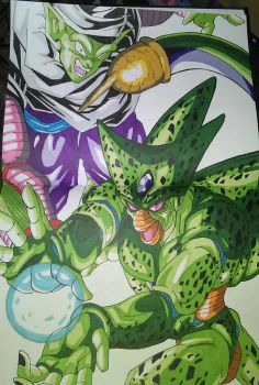 Cell and Piccolo by Centauros