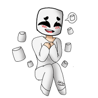 [Art Trade] Marshmello by cutelittlepikakitty