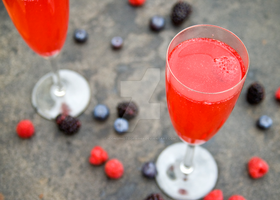 Summer Berry Fizz Drink by iconsPhotography