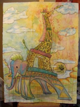 Eiffel on Acid by americanimengel