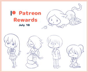 : Patreon : July Sketches by GimmeHug