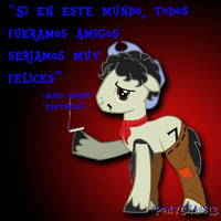 Cantinflas ponyfied by PonyChaos13