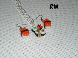 Polymer Clay Sushi Set by Becca427