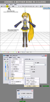 MMD/PMD Tutorial Adding A Mother Bone in 2-clicks by Trackdancer