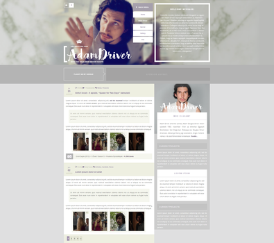 Adam Driver Fansite | WordPress Theme by BrielleFantasy