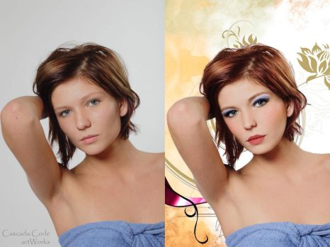 before and after Sorana Pacura by Caskdacode