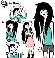 Ella the Human Sketch by Quelliette
