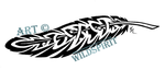 Celtic Tribal Raven Feather by WildSpiritWolf