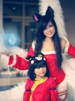 League of legends - Ahri and Annie Panda by hatechuu