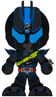 Chibi Kamen Rider Dark Drive - Type Next by Zeltrax987