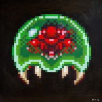 Green Metroid Oil Painting by gas01ine