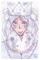 watercolor: La reines des neiges by hiromihana