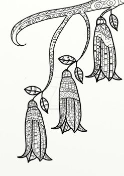 Dusky Bells Coloring Page by LorraineKelly