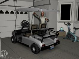 Elton Baum's Golf Cart by Norski