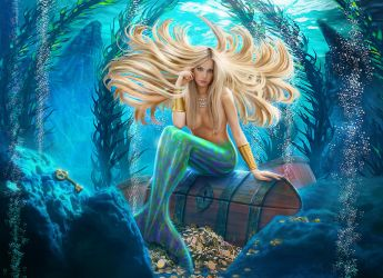 The Mermaid and the Key by digital-pat