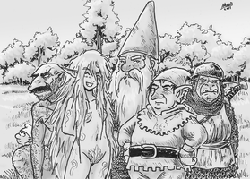Gnomes, Elves and Goblins by Shabazik