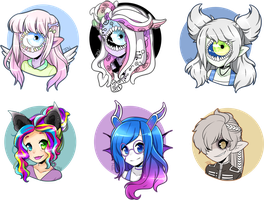 Headshot commissions 2 by Tenshilove