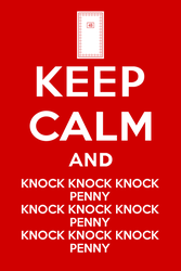 Keep Calm and knock knock knock penny by son-link
