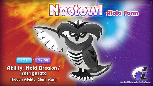 Commission - Hyperdragoonhx - Alolan Noctowl by ShadowLifeman