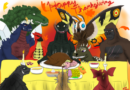 Have a Kaiju Thanksgiving by FallenAngel5414