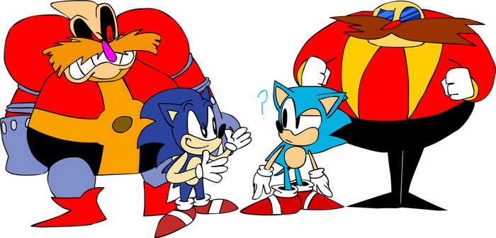 Happy Birthday Sonic, Sonic, EggMan and Robotnik by TanookiDX