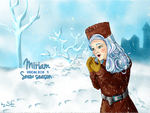 Miriam in the Snow by byBibo