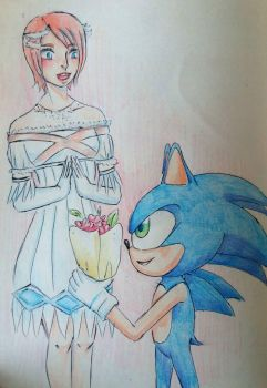 Elise and Sonic for 4atomic4 by Arikava-Yuuichi