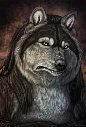 Graypaw speedpaint portrait by AnsticeWolf