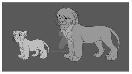 Lion Cub and Teen Base by Pumpkabo0