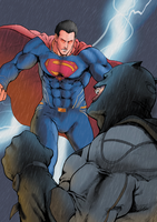 BatmanVsSuperman by comic-eeb